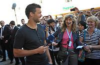 IM BILD: Michael Ballack -  Diverse Prominente treffen am Mittwoch (05.06.2013) nach und nach im Hotel Steigenberger in Leipzigs Innenstadt ein. Zahlreiche Autogrammjäger und Fans haben sich davor versammelt. Am Abend werden die Gäste beim Abschiedsspiel von Michael Ballack in der Red-Bull-Arena teilnehmen. <br /> Foto: Christian Nitsche