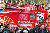 Trade Unions and Anti Imperialist Mayday March to Trafalgar Square
