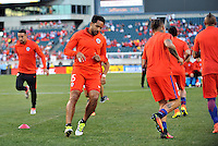 Philadelphia, PA - Tuesday June 14, 2016: Chile warms up prior to a Copa America Centenario Group D match between Chile (CHI) and Panama (PAN) at Lincoln Financial Field.