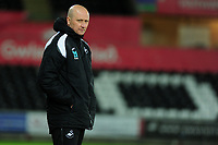 Pictured: Cameron Toshack head coach of Swansea City during the Premier League 2 match between Swansea City and West Ham United at the Liberty Stadium, Swansea, Wales, UK <br /> Monday 11 March 2019