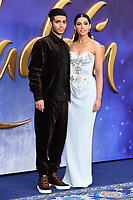 """Mena Massoud and Naomi Scott<br /> arriving for the """"Aladdin"""" premiere at the Odeon Luxe, Leicester Square, London<br /> <br /> ©Ash Knotek  D3500  09/05/2019"""