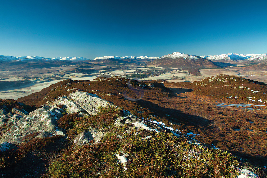 Badenoch & Speyside from Creag Bheag above Kingussie, Cairngorm National Park, Highland
