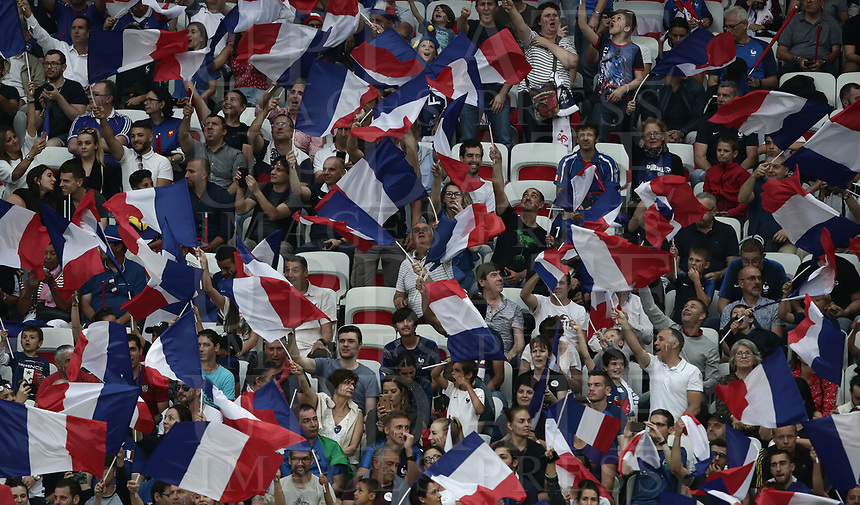 International friendly football match France vs Italy, Allianz Riviera, Nice, France, June 1, 2018. <br /> France's fans during the international friendly football match between France and Italy at the Allianz Riviera in Nice on June 1, 2018.<br /> UPDATE IMAGES PRESS/Isabella Bonotto