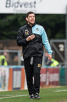Darrell Clarke manager of Bristol Rovers during the Sky Bet League 2 match between Wycombe Wanderers and Bristol Rovers at Adams Park, High Wycombe, England on 27 February 2016. Photo by Andy Rowland.