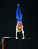21st March 2018, Arena Birmingham, Birmingham, England; Gymnastics World Cup, day one, mens competition; Dominick Cunningham (GBR) on the Horizontal Bar during the warm up before the competition