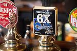Pub hand pumps for real ale, Devizes, Wiltshire, England, UK