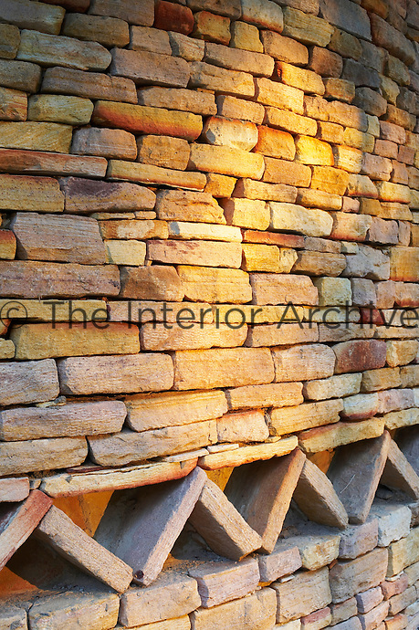 A detail of a dry stone wall, Singita Pamushana Lodge, Malilongwe Trust, Zimbabwe