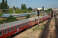 Romania. Iași County. Iasi. Railway station. Trains on the move. Iași (also referred to as Iasi, Jassy or Iassy) is the largest city in eastern Romania and the seat of Iași County. Located in the Moldavia region, Iași has traditionally been one of the leading centres of Romanian social life. The city was the capital of the Principality of Moldavia from 1564 to 1859, then of the United Principalities from 1859 to 1862, and the capital of Romania from 1916 to 1918. 6.06.15 © 2015 Didier Ruef