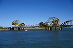 California, CA, Delta, movable bridge, Isleton, bascule type..Photo  caggbr208.  .Photo Copyright: Lee Foster, www.fostertravel.com, 510-549-2202, lee@fostertravel.com