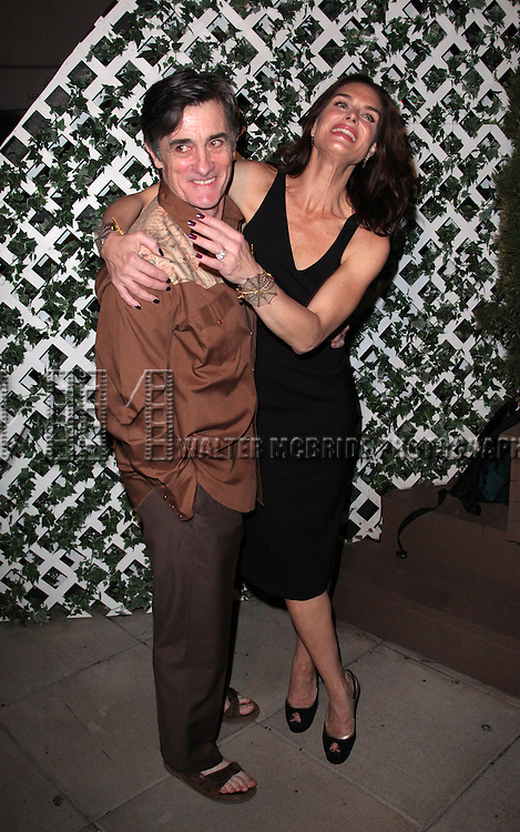 Roger Rees & Brooke Shields.attending the After Performance Reception for Brooke Shields debut in 'The Addams Family' at the Empire Hotel Roof in New York City.