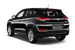 Car pictures of rear three quarter view of 2016 Hyundai Tucson SE 5 Door Suv Angular Rear