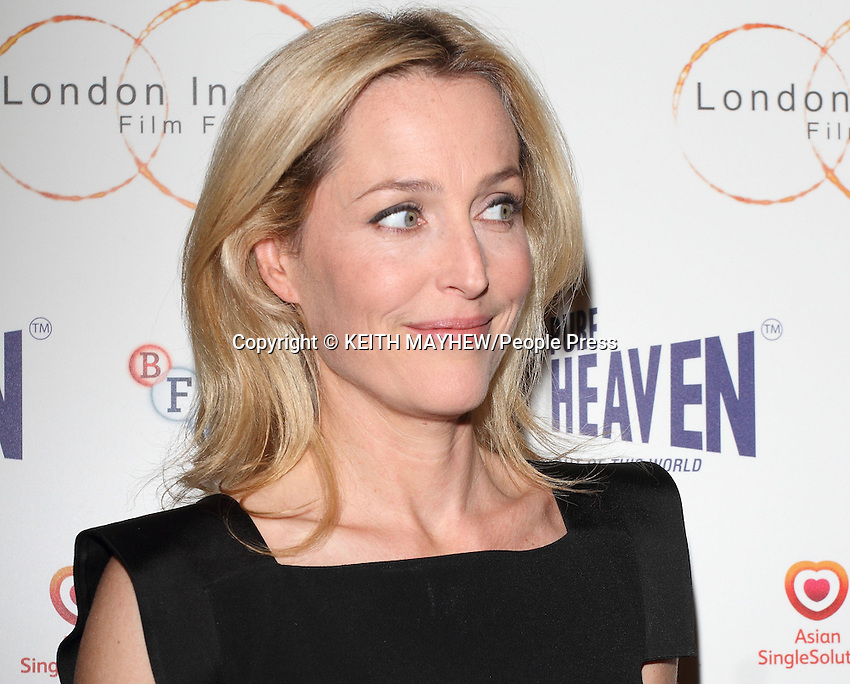 Gillian Anderson attends the London Indian Film Festival Opening Film screening 'Sold' at Cineworld, Haymarket, London on July 10th 2014 <br /> <br /> Photo by Keith Mayhew