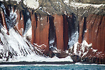 View Of Red Cliffs From Neptune's Bellows, Antarctic Peninsula