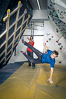 Pete Whittaker and Tom Randall train at The Foundry climbing wall on 6th March 2017, Sheffield, United Kingdom