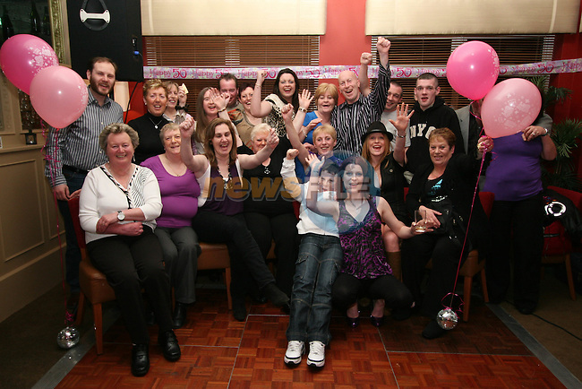 Frances Nugent with friends and family at her suprise birthday party in Harrys Bar, Mell....Photo NEWSFILE/Jenny Matthews.(Photo credit should read Jenny Matthews/NEWSFILE)....This Picture has been sent you under the condtions enclosed by:.Newsfile Ltd..The Studio,.Millmount Abbey,.Drogheda,.Co Meath..Ireland..Tel: +353(0)41-9871240.Fax: +353(0)41-9871260.GSM: +353(0)86-2500958.email: pictures@newsfile.ie.www.newsfile.ie.FTP: 193.120.102.198.