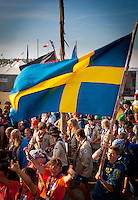 Scouts from Netherland, Germany and Sweden heading for the arena event on time road. . Photo: André Jörg/ Scouterna
