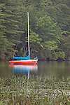 Boat at White Lake State Park, New Hampshire, USA