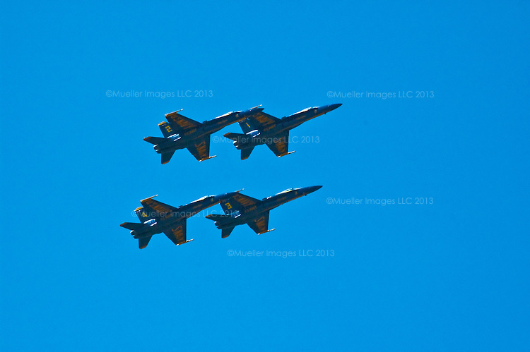 The Blue Angels have been performing before the public since 1946. These images were taken during flight demonstrations in Seattle, WA from 2005 and 2009. Digital photography by Jim Mueller.