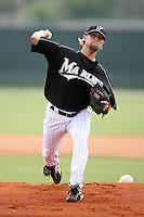 April 14, 2009:  Pitcher Chris Mobley of the Florida Marlins extended spring training team delivers a pitch during a game at Roger Dean Stadium Training Complex in Jupiter, FL.  Photo by:  Mike Janes/Four Seam Images