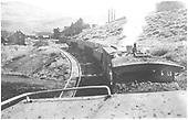 Approaching the Baldwin Mine.<br /> D&amp;RGW  Baldwin, CO  Taken by Treptow, Russell F.