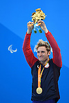 Bradley Snyder (USA), <br /> SEPTEMBER 15, 2016 - Swimming : <br /> Men's 100m Freestyle S11 Medal Ceremony <br /> at Olympic Aquatics Stadium<br /> during the Rio 2016 Paralympic Games in Rio de Janeiro, Brazil.<br /> (Photo by AFLO SPORT)