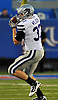 Oct 14, 2010; Lawrence, KS, USA; Kansas State Wildcats fullback Braden Wilson (37) catches a pass in the first half of the game against the Kansas Jayhawks at Memorial Stadium. Mandatory Credit: Denny Medley-US PRESSWIRE