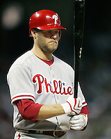 Phillies infielder Eric Bruntlett on Saturday May 24th at Minute Maid Park in Houston, Texas. Photo by Andrew Woolley / Four Seam Images..