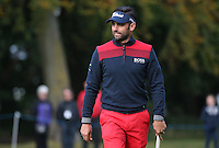 Lee Slattery (ENG) added more points to his Ryder Cup tally during the Final Round of the British Masters 2015 supported by SkySports played on the Marquess Course at Woburn Golf Club, Little Brickhill, Milton Keynes, England.  11/10/2015. Picture: Golffile | David Lloyd<br /> <br /> All photos usage must carry mandatory copyright credit (© Golffile | David Lloyd)