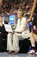 8 April 2008: Stanford Cardinal assistant coach Kate Paye during Stanford's 64-48 loss against the Tennessee Lady Volunteers in the 2008 NCAA Division I Women's Basketball Final Four championship game at the St. Pete Times Forum Arena in Tampa Bay, FL.