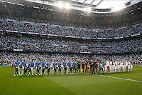 Madrid, Spain, 23/04/14.- Real Madrid's XXXX and Bayern Munich's XXXX during Champions League semifinal's 1st match at Santiago Bernabeu Stadium.<br />  <br /> Photo: Cesar Cebolla / ALFAQUI