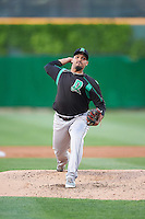 Dayton Dragons starting pitcher Franderlin Romero (34) delivers a pitch during a game against the Peoria Chiefs on May 6, 2016 at Dozer Park in Peoria, Illinois.  Peoria defeated Dayton 5-0.  (Mike Janes/Four Seam Images)