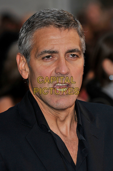 "GEORGE CLOONEY.Attending the ""Leatherheads"" European Film Premiere  held at the Odeon cinema, Leicester Square London, England, 8th April 2008..portrait headshot black mouth open funny .CAP/PL.©Phil Loftus/Capital Pictures..."