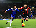 Chelsea's Willian tussles with Bournemouth's Charlie Daniels<br /> <br /> Barclays Premier League - Chelsea v AFC Bournemouth - Stamford Bridge - England - 5th December 2015 - Picture David Klein/Sportimage