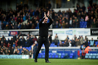 Ipswich Town's manager Paul Lambert applauds the fans at the final whistle <br /> <br /> Photographer Hannah Fountain/CameraSport<br /> <br /> The EFL Sky Bet Championship - Ipswich Town v Nottingham Forest - Saturday 16th March 2019 - Portman Road - Ipswich<br /> <br /> World Copyright &copy; 2019 CameraSport. All rights reserved. 43 Linden Ave. Countesthorpe. Leicester. England. LE8 5PG - Tel: +44 (0) 116 277 4147 - admin@camerasport.com - www.camerasport.com