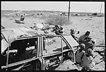 Displaced San boys. <br /> Epikuro Post 3.  Herero land. Namibia