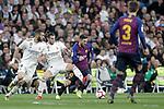 Real Madrid CF's Karim Benzema (L), Gareth Bale  and FC Barcelona's Leo Messi, Gerard Pique during La Liga match. March 02,2019. (ALTERPHOTOS/Alconada)