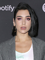 07 February 2019 - Westwood, California - Dua Lipa. Spotify &quot;Best New Artist 2019&quot; Event held at Hammer Museum. <br /> CAP/ADM/PMA<br /> &copy;PMA/ADM/Capital Pictures