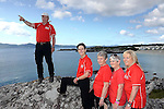 24-7-2014 Pictured on the Kerry Way Cancer research Walk at Caherdaniel County Kerry on Friday were, Pat Murray, walk leader with  Agnes Linnane, Mary Fitzgerald, Mary Fitzsimmons and Ann O'Sullivan passing Carroll's Cove.<br /> Photo: Don MacMonagle<br /> <br /> Now in its 10th year the Kerry Way Cancer Research Walk is a fundraising event that has gone from strength to strength contributing over &euro;600,000 to Cork Cancer Research Centre helping researchers to translate lab discoveries into new cancer treatment opportunities for poor prognosis and incurable cancers. The three day walk along the scenic Kerry Way takes walkers from Caherdaniel, along the Kenmare River and finishing in the Killarney area on Sunday.<br /> Photo Don MacMonagle<br /> <br /> Repro free photo from Kerry Cancer Research.