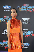 19 April 2017 - Hollywood, California - Zoe Saldana. Premiere Of Disney And Marvel's &quot;Guardians Of The Galaxy Vol. 2&quot; held at Dolby Theatre. <br /> CAP/ADM/PMA<br /> &copy;PMA/ADM/Capital Pictures