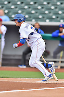 Tennessee Smokies left fielder Bijan Rademacher (24) swings at a pitch during a game against the Jackson Generals at Smokies Stadium on July 5, 2016 in Kodak, Tennessee. The Generals defeated the Smokies 6-4. (Tony Farlow/Four Seam Images)