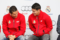 Cristiano Ronaldo and James participates and receives new Audi during the presentation of Real Madrid's new cars made by Audi in Madrid. December 01, 2014. (ALTERPHOTOS/Caro Marin) /Nortephoto