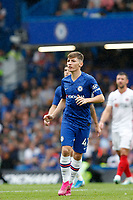 Billy Gilmour of Chelsea in action during the Premier League match between Chelsea and Sheff United at Stamford Bridge, London, England on 31 August 2019. Photo by Carlton Myrie / PRiME Media Images.