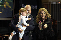 Montreal (Qc) CANADA -File Photo-Celine Dion, Rene Angelil and their son Charles Rene