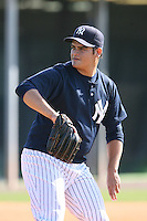March 17th 2008:  Edgar Soto of the New York Yankees minor league system during Spring Training at Legends Field Complex in Tampa, FL.  Photo by:  Mike Janes/Four Seam Images