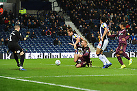 Mike van der Hoorn of Swansea City is fouled by Craig Dawson of West Bromwich Albion during the Sky Bet Championship match between West Bromwich Albion and Swansea City at The Hawthorns in Birmingham, England, UK. Wednesday 13 March 2019