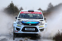 2nd February 2020; Galway, Galway, Ireland; Irish Tarmac Rally Championship, Galway International Rally;  Eugene Donnelly and Charlie McEnery (Proton lriz R5) in action during the Galway Rally