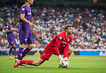 Goalkeeper Marco Sportiello of ACF Fiorentina in action during the Santiago Bernabeu Trophy 2017 match between Real Madrid and ACF Fiorentina at the Santiago Bernabeu Stadium on 23 August 2017 in Madrid, Spain. Photo by Diego Gonzalez / Power Sport Images