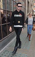 'The X Factor' UK Rylan Clark seen at BBC Radio 1 Studio, London, UK. 08/11/2012.<br /> (Photo: BlueStar/OIC kap1003/NortePhoto)