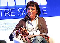Luciana Delle Donne, Fondatrice Made in Carcere interviene durante il XXIX convegno di Capri per Napoli   dei  Giovani Industriali a Citta della Scienza , 25 Ottobre 2014