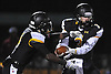 Bo Waters #3, St. Anthony's quarterback, right, hands off to running back Dion Williams #4 during the NYCHSFL Class AAA semifinals against Cardinal Hayes (Bronx) at St. Anthony's High School on Friday, Nov. 11, 2016.